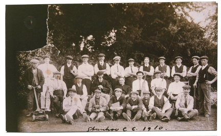 Stanhoe Cricket Club, 1910