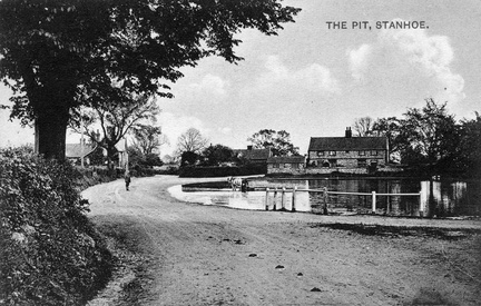 The Pit with horse, cart and driver, before 1920