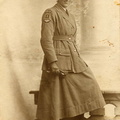 George Mitchley's first wife, Matilda, in Women's Royal Air Force (WRAF) uniform, which dates the photo to 1918-20.  Matilda was for a while stationed at Bircham Newton. She died of a brain tumour in 1919.