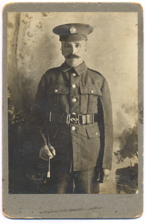 Jabez Mitchley in the uniform of the 2nd Hampshires