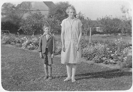 Thomas Newstead with his Mum (Annie) c 1928. Loaned LC