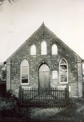 Methodist Chapel, The Street, 1930s. The gates disappeared during World War II.