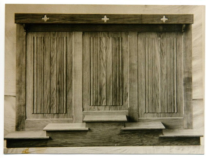 1950s -  All Saints' church: reredos by John Rowe