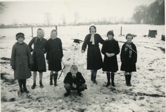 Children on the school playing field