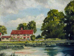 The Pit with elms, 1952, from a painting by David Newton