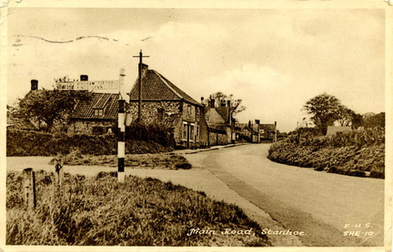 "Postcard, ""Main Road, Stanhoe"""