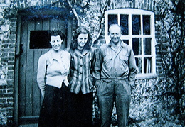 Alfred, Alice and Gillian Tuck, 1951