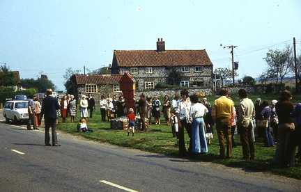 New village sign, 1976