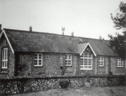 Stanhoe school. The slate roof dates the photo to before 1980.