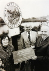 Best Kept Village presentation to Eddie Barber by Lady Harrod, 1980