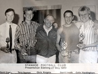 Stanhoe football club presentation, 27 May 1989.