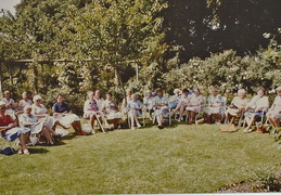 WI garden meeting at Bramley Cottage, 1986