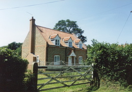 New house at corner of Church Lane and Docking Rd (built 1994, photo 1995)