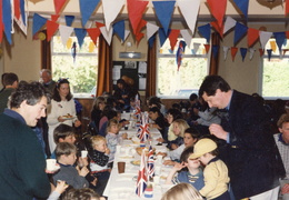 Children's party for the 50th anniversary of VE day, 1995