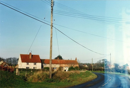 Ramp Row, Bircham Road, from the west, c 1990.