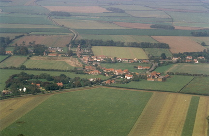 Aerial view of Stanhoe from the south, 1992