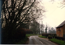 Bircham Road, the Cabin (Little Barwick) behind the hedge on the left.  1993