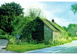 Blacksmith's shop. Postcard purchased in Stanhoe post office shop 1999. Loaned JW