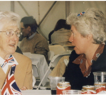 Queen's Golden Jubilee 2002: party in a marquee on the playing field