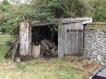 2009 - The old garage at Station Farm, Stanhoe.
