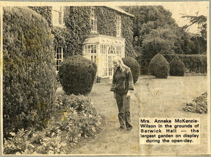 Anneke McKenzie-Wilson at Barwick Hall, ? 1978
