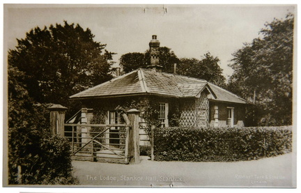 The Lodge, Stanhoe Hall (postcard), 1950