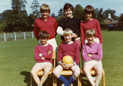 Stanhoe School footballers: front row (l-r) Mark Steward, Ian Holmes, Richard Ayres; back row (l-r) Neil Barber, Stephen Ayres, Stephen Ireson