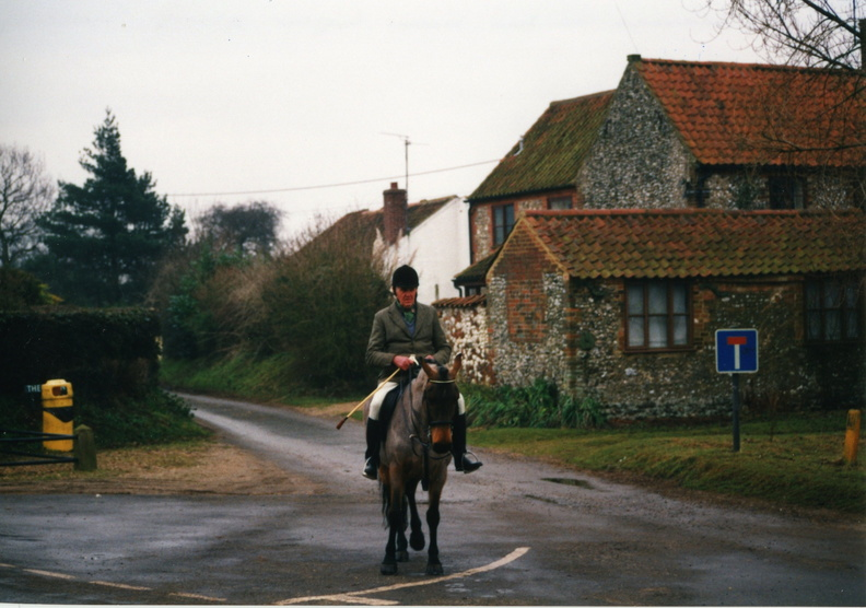 Dick Seaman ready for hunting with the West Norfolk foxhounds