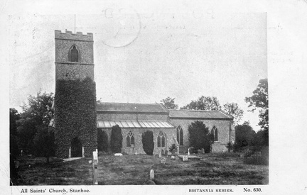 All Saints' church. Postcard, Britannia Series no. 630