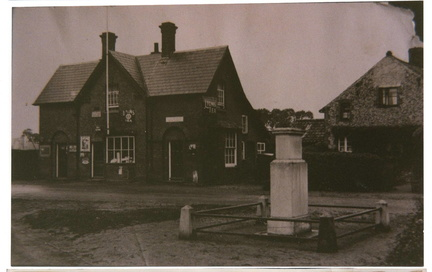 Post Office and war memorial