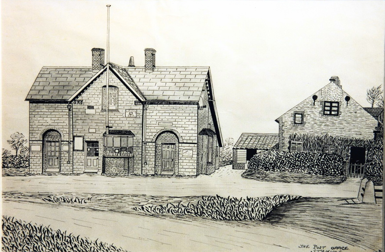 The Post Office: drawing by Reggie Ayres