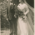 Wedding of John Rowe and Joyce Smith, 1950