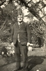 George Pygall Mitchley in his working clothes as a gardener. Since he worked in Dorset, this photo may have been taken there.