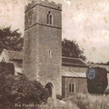 All Saints' church, Stanhoe.  Postcard by Raphael Tuck & Sons Ltd, London.
