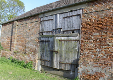 2011- The barn doors at Station Farm, Stanhoe.