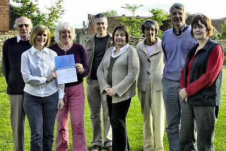 Stanhoe Archive members with their lottery grant