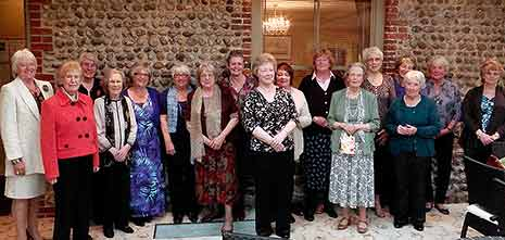 WI members at an event