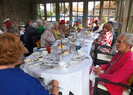 WI members take tea at Morston Hall in 2019