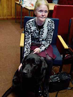 Gill Southgate with her guide dog