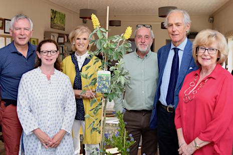 Mark with MEHM Trustees and garden plants in the Reading Room